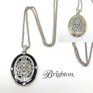 INTRIGUE REVERSIBLE FILIGREE PENDANT NECKLACE